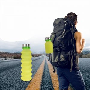 550ML Portable Silicone Collapsible Water Bottle