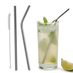 Bent & Straight Stainless Steel Straws