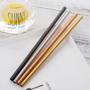 4Pcs Stainless Steel Drinking Straws