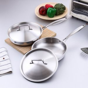 All-Steel Frying Pan with Cover