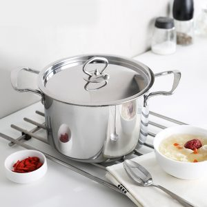 Stainless Steel Stockpot With Steel Lid