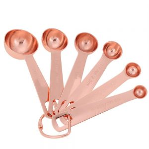 6Pcs/Set Stainless Steel Rose Gold Measuring Spoons