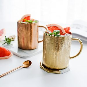 Rose Gold Stainless Steel Coffee & Milk Cup 450ml