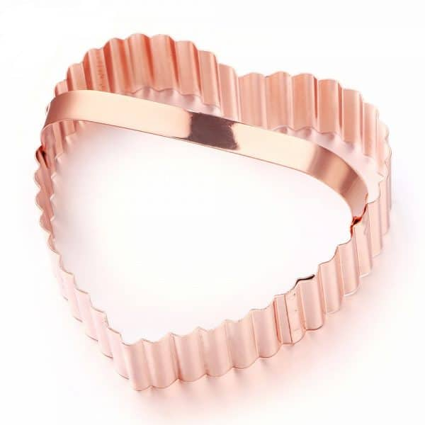 Heart Shape Cookie Cutter – Stainless Steel Rose Gold