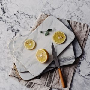 Nordic Style Marble Plates & Cutting Board