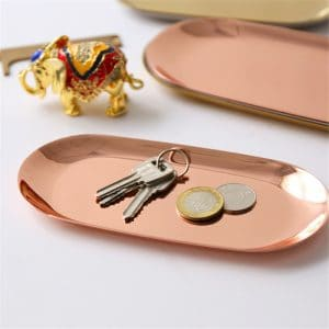 Luxurious Rose Gold Tray