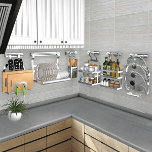 Wall Mounted Stainless Steel Organizer