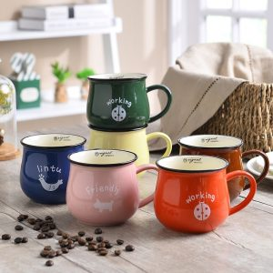 350ML Ceramic Tea Coffee Mugs
