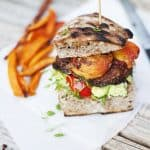 Green Kitchen Stories » Portobello & Peach Burger for Designsponge