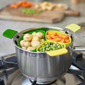 3Pcs Food Cooking Basket Steamer