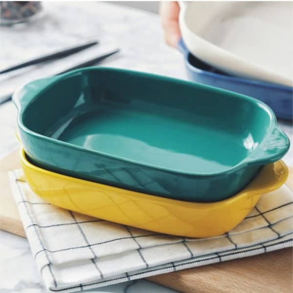 Colorful Ceramic Baking Dishes & Dinner Plates