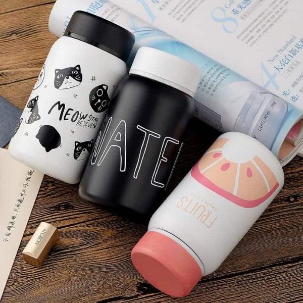 Cartoon Stainless Steel Vacuum Bottle