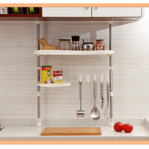 Adjustable Rack Holder & Utensil Hanger