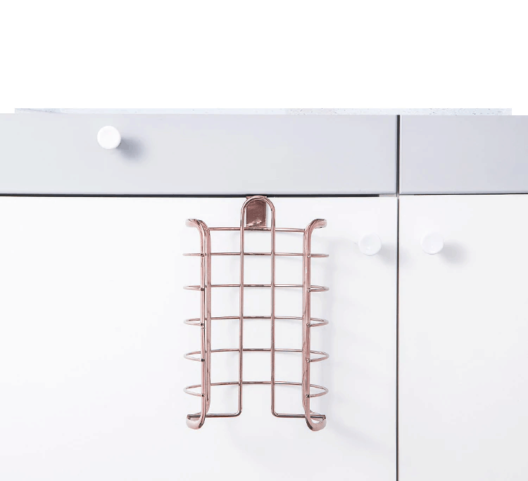 Rose Gold  Paper Holder For Cabinet Door