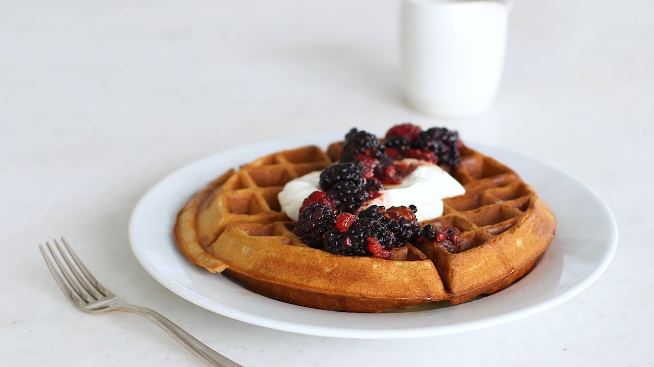 Whole-Wheat Waffles with Yogurt and Berries- Healthy Appetite with Shira Bocar