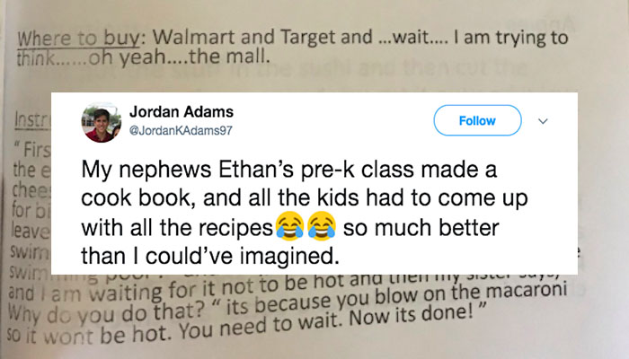 These Preschoolers Wrote A Cookbook And The 'Recipes' Are Hilarious
